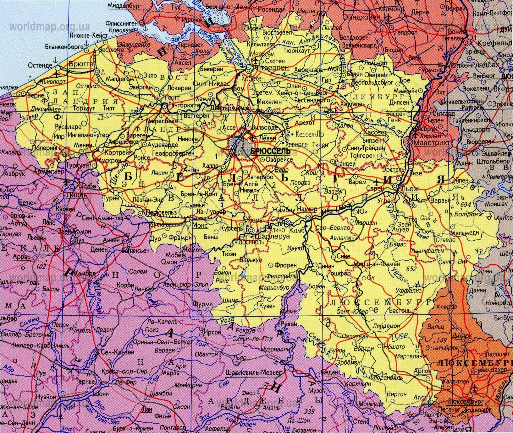 Map of Belgium Kingdom of Belgium Maps