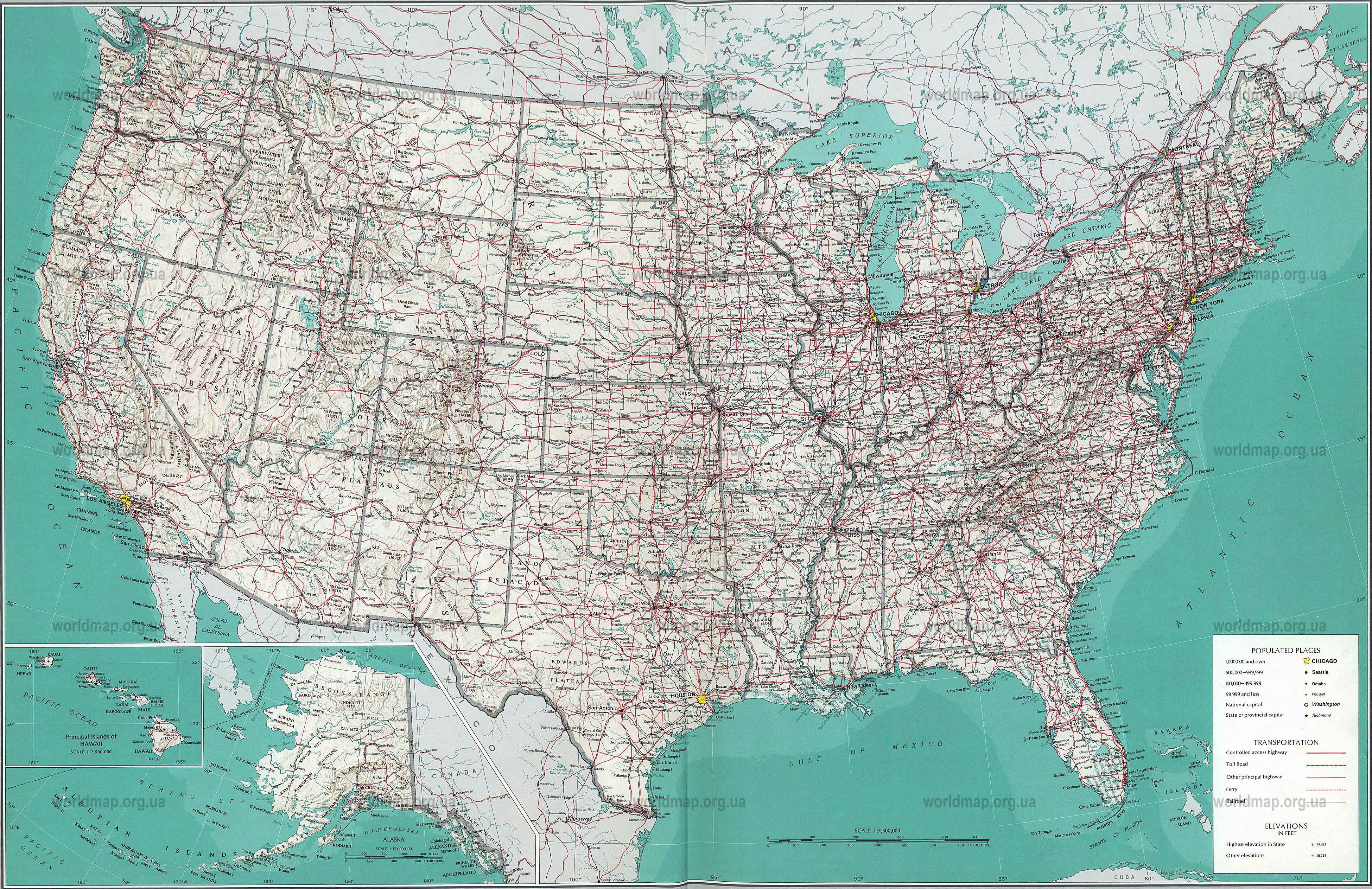 Detailed Topographical Map Of USAjpg Amazing Usa Topographic